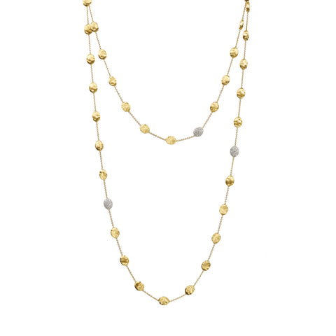 Marco Bicego® Siviglia Collection 18K Yellow Gold and Diamond Large Bead Long Necklace