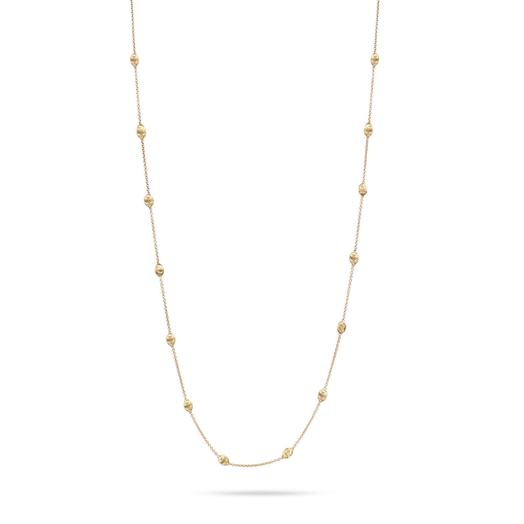 "Marco Bicego® Siviglia Collection 18K Yellow Gold Small Bead 47"" Necklace"