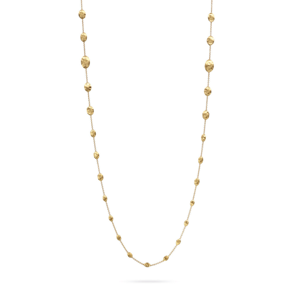 18K Gold Long Graduated Necklace