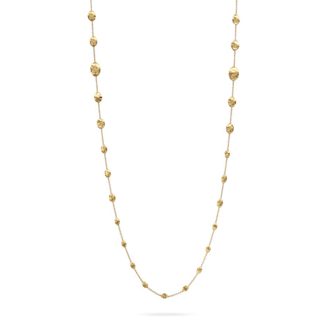 Siviglia Gold Graduated Bead Long Necklace