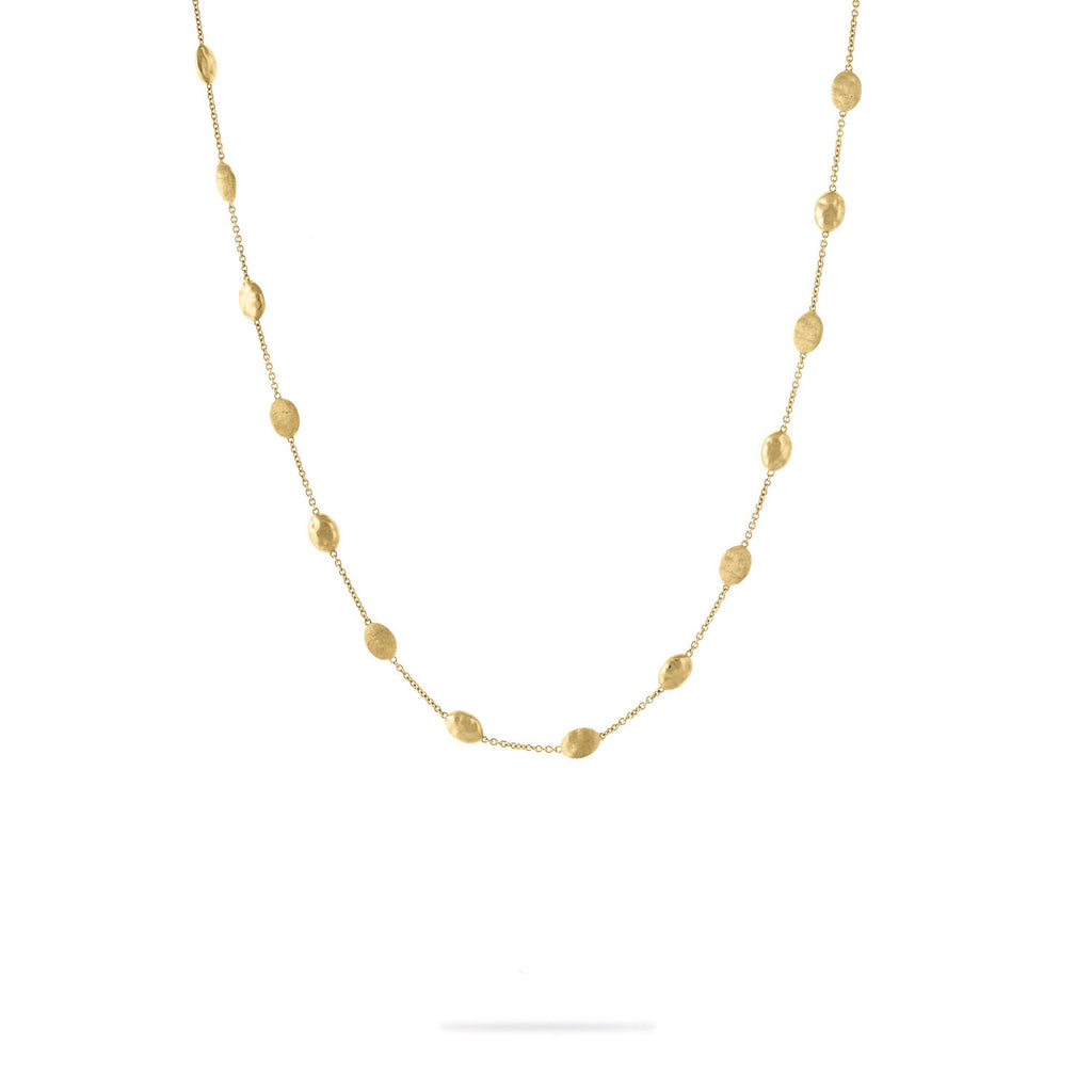 Siviglia Gold Polished & Engraved Necklace
