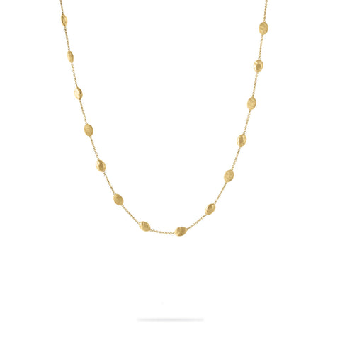 Siviglia 18K Yellow Gold Polished and Engraved Necklace