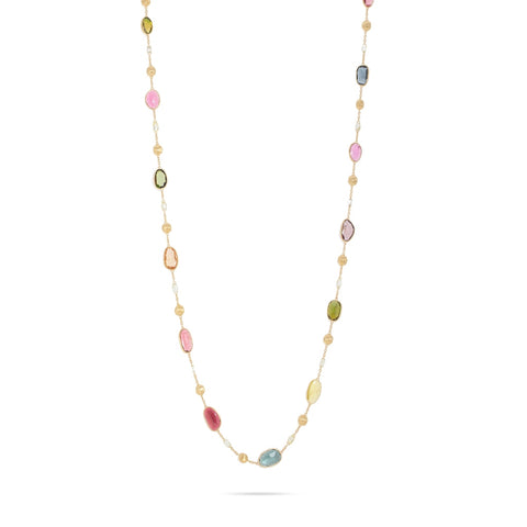 Marco Bicego® Unico Collection 18K Yellow Gold Mixed Tourmaline and Diamond Necklace