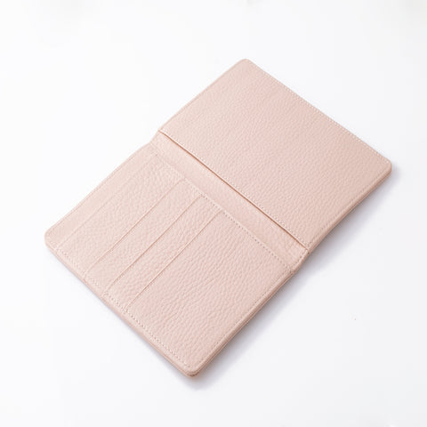 Pink Leather Passport Book