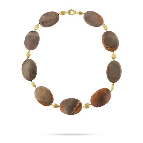 Exclusive - Unico Dark Brown Landscape Jasper Collar