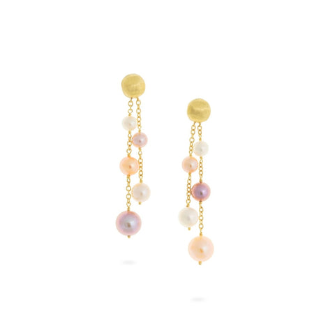 Marco Bicego® Africa Pearl Collection 18K Yellow Gold and Pearl Double Strand Earrings