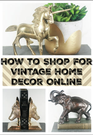 How to Shop Online for Vintage Home Decor