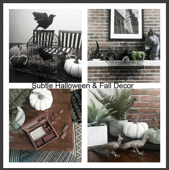 Black and White Halloween and Fall Decor