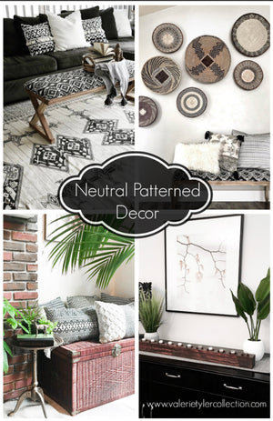 Neutral Patterned Decor