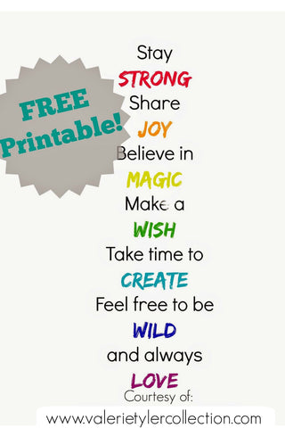 graphic relating to Printable Positive Affirmations named Valerie Tyler Choice Blog site Tagged \