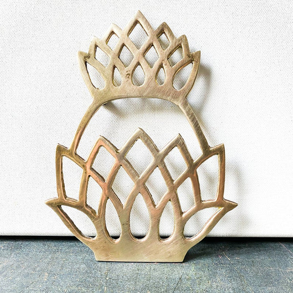 Vintage brass pineapple trivet