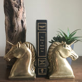 Unicorn Bookends Vintage Brass