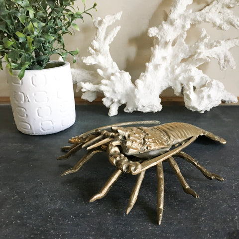 Vintage Brass Lobster / Crawfish