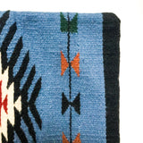 Southwestern Woven Wool Pillow Cover - blue tones