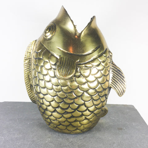 Detailed, vintage brass fish