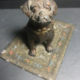 Vintage / Antique Cold painted dog pin cushion from Austria