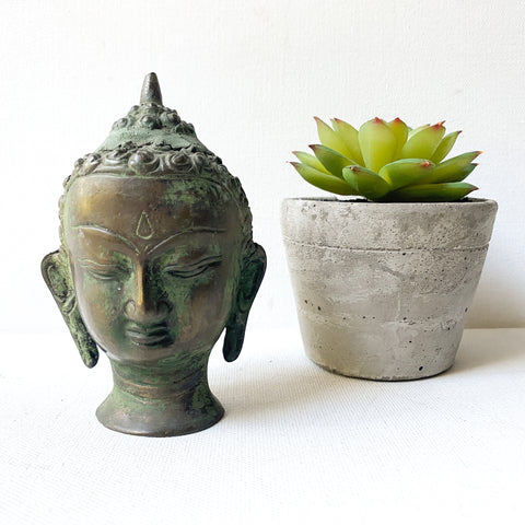 Antique Bronze Buddha Bust