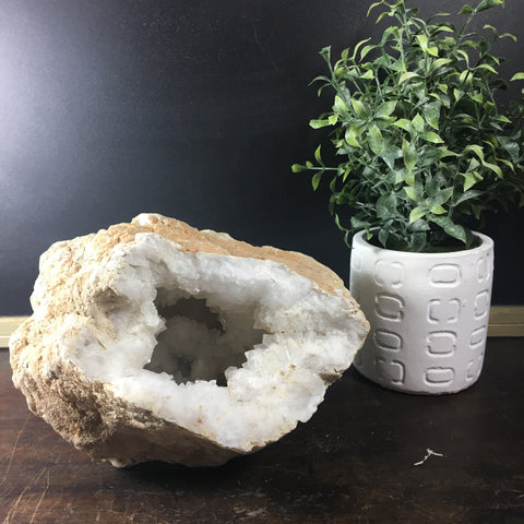 Large White Geode Natural Specimen