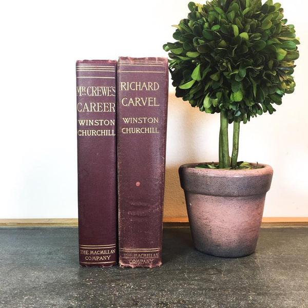Antique Winston Churchill Book set, Richard Carvel and Mr. Crewe's Career