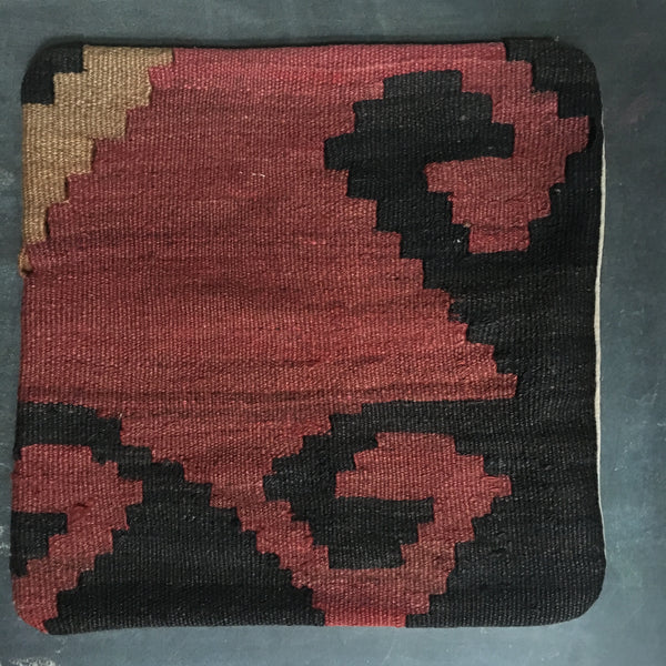 Vintage Kilim Pillow - steps pattern