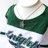 Nordonia Knights Charm Necklace, Knight Helmet