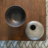 Vintage Asian Pottery, Ikebana Vase and Bowl with Bonsai Art