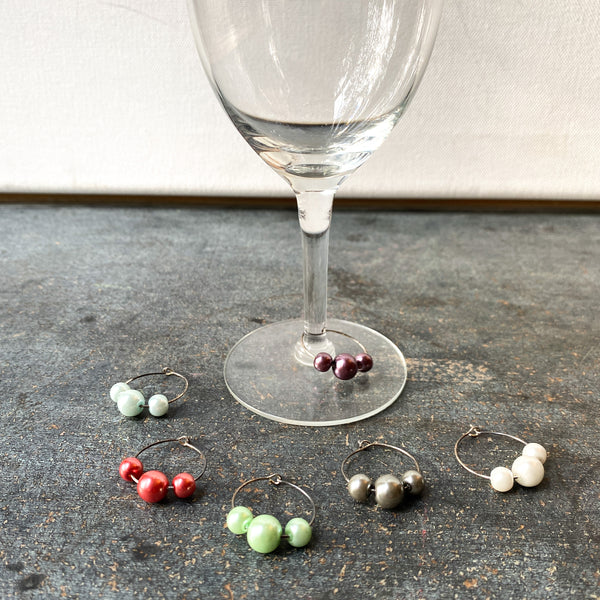 Pearl Wine Charms