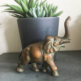 Cast Elephant Sculpture - bronze finish