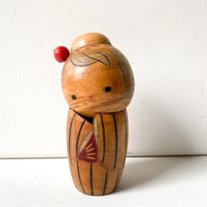 Vintage / Antique Kokeshi Doll, handpainted wood collectible from Japan