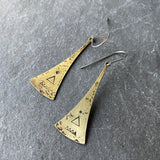 Geometric Peak Pendulum Earrings