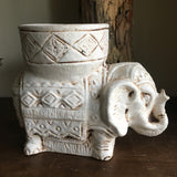 Vintage Elephant Sculpture Planter