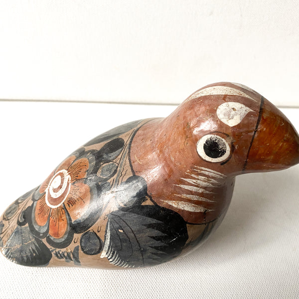 Ceramic Bird, Mexican Pottery, Tonala Style