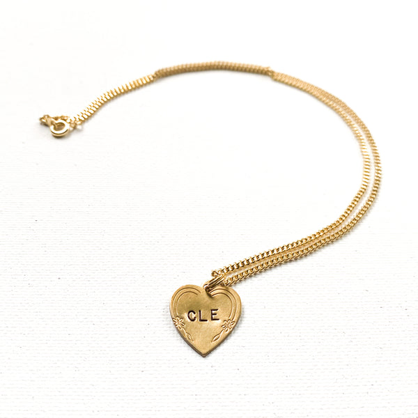 CLE heart necklace