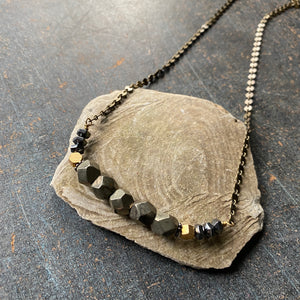 Pyrite Nugget Necklace
