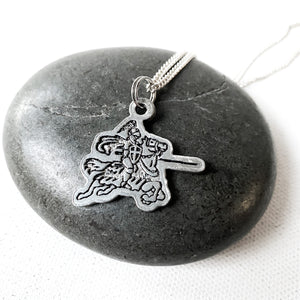 Nordonia Knight on Horse Necklace