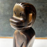 Midcentury Monkey Sculpture, ironwood figurine