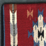 Southwestern Style Wool Pillowcase/cover in rustic red