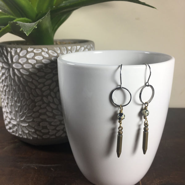Modern Boho Spike and Hoop Earrings
