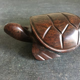 Vintage Ironwood Sea Turtle Sculpture