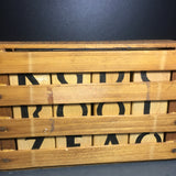 Boxed Wood Alphabet and Puzzle Blocks - Hand Painted Primitve Folk Art