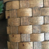 Vintage Wood Wall Hanging Basket / Mail Basket