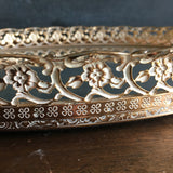 Vintage Filigree Mirror Tray