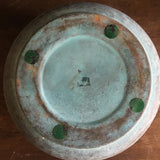 Vintage Brass and Green Verdigris Planter