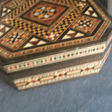 Vintage inlaid wood box