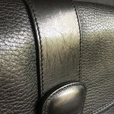 Vintage Black Leather Coach Bag - Sheridan Crossbody Messenger Bag