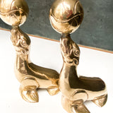 Vintage Brass Seal Bookends