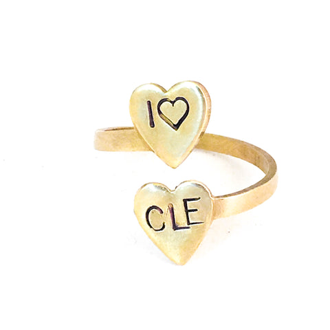 I love CLE ring, Cleveland Pride Jewelry - FREE SHIPPING!
