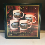 Vintage Ralph Lauren Polo Mugs Set of 4, equestrian coffee mugs