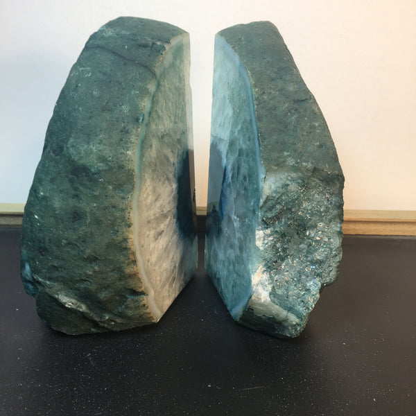 Geode Bookends Teal Agate