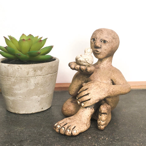Studio Pottery Sculptural Figurine